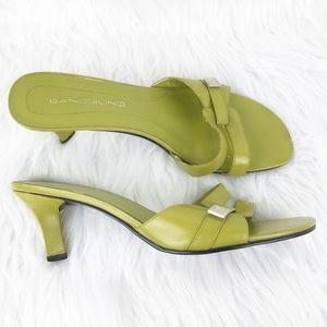 VTG Bandolino Green Slide Heeled Sandals 6.5